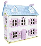Bella Alpina Casa Delle Bambole In Legno Mobili Di Famiglia e Bambole Piani In Legno Accessori Bambole Incluse Alta Qualità Buon Divertimento Rosa