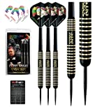 Red Dragon Peter Wright Snakebite 22g - Brass Darts mit Flights, Schäfte, Hülle Checkout Card