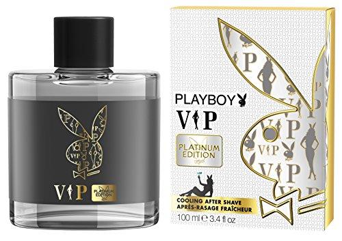 Playboy VIP Platinum Edition men After Shave Lotion 100 ml, 1er Pack (1 x 100 ml)