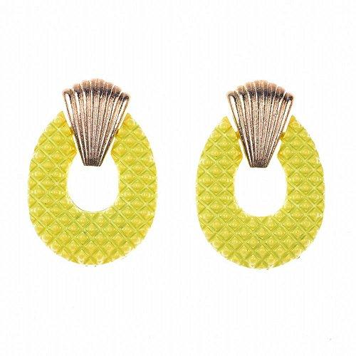 Meeoi orecchio orecchini a cerchio da donna in argento Sterling 925, anello di vernice in lega orecchini e Argento, colore: Yellow, cod. 9151163495248
