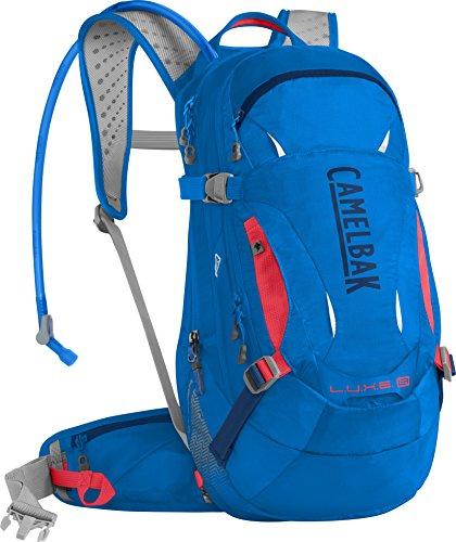 CamelBak Luxe LR Mochila de Hidratación, Mujer, Azul (Carve Blue/Fiery Coral), Talla Única