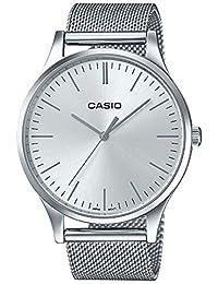 650e8feb52bd Casio Reloj Analogico para Unisex de Cuarzo con Correa en Acero Inoxidable  LTP-E140D-