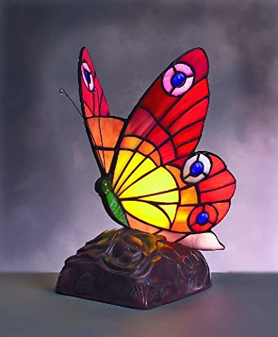BF11 - 15cm Butterfly Design Tiffany Stained Glass Table