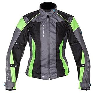 Spada Air Pro 2 Motorcycle Jacket XL Black Silver Fluorescent