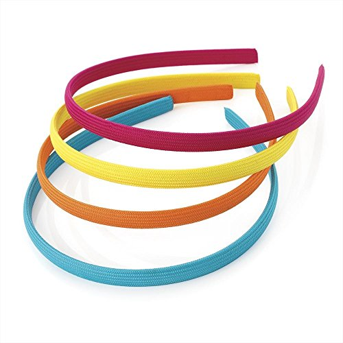 pack-of-4-fabric-alice-bands-headband-blue-orange-yellow-pink