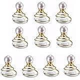 tinxi® 10 x 8 mm de perlas artificiales perlas de imitación de pelo, pasadores de pelo de la boda, pinzas para el pelo, accesorios para el cabello, accesorios de novia, blanco
