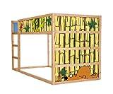 Stikkipix Tierwelt Möbelfolie selbstklebend/Aufkleber - IM10 - passend für das Kinderzimmer Hochbett KURA von IKEA - Möbel Nicht Inklusive