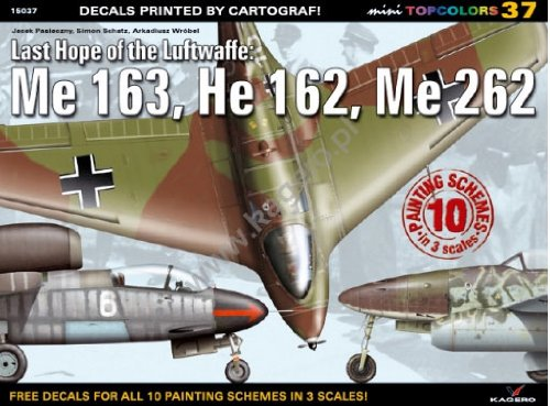 Last Hope of the Luftwaffe: Me 163, He 162, Me 262 (Mini Topcolors) por Arkadiusz Wrobel