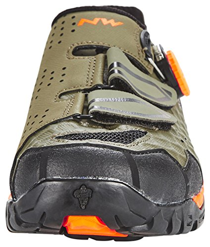 Northwave Outcross Plus MTB Trekking Fahrrad Schuhe grün/orange 2017 military