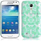 JAMMYLIZARD | Damast- Motiv Back Cover Hülle für Samsung Galaxy S4 Mini, GRÜN