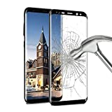 Galaxy S8 plus Screen Protector , ikalula Galaxy S8 plus Tempered Glass [Full Coverage] 1 Pack 9H Hardness Explosion-proof Anti-Scratch Ultra Clear Film Guard Cover For Samsung Galaxy S8 plus - black