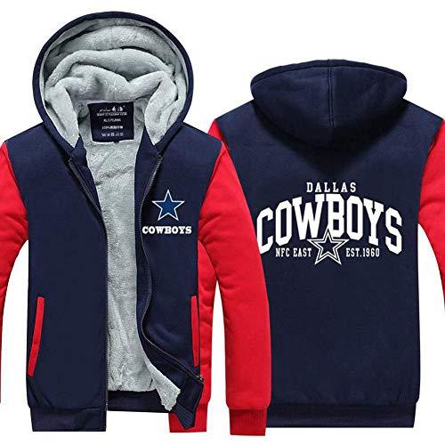 Evere Cowboys Kapuzen pullover Hoodie Winter Dick Samt Jacke Herren Sweatshirt Dallas Kostüm Zip Mantel für Cosplay Kleidung