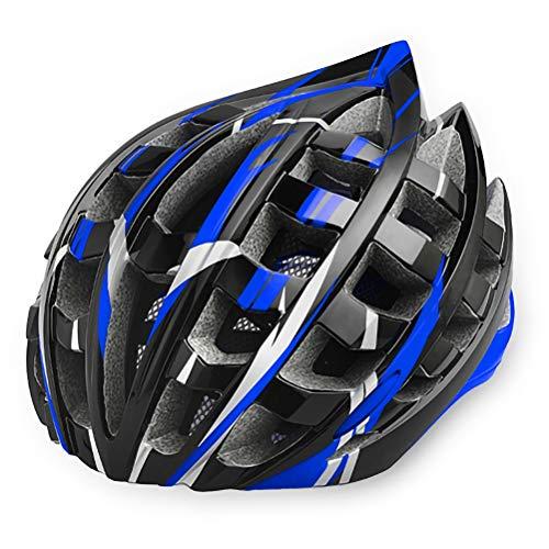 HELME Fahrradhelm, Rennrad Männer MTB Radfahren Reithelm EPS Kopfschutz für Männer Frauen Fahrrad Zubehör,Blue