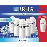 BRITA 101931 Pack of 5 Classic Cartridges and 1 Free