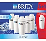 BRITA 101931 Pack of 5 Classic Cartridges and 1 Free