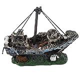 Navi da Pirata in acquari Acquario Decorazione di paesaggi Accessori per acquari Serbatoio di Pesce Acquario Resina Ornamento per Barche (Multicolore) ITjasnyfall