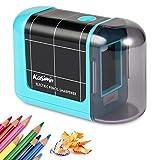 Kasimir Taille Crayon Electrique Professionnel Batterie Taille Crayon électrique Portable pour Les Enfants étudiants Artiste Designer Au Bureau De L'école -Bleu