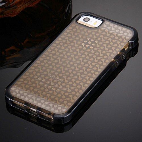 iPhone Case Cover Pour iPhone 5 & 5s & SE Haltère Texture TPU Housse de protection ( Color : Purple ) Black