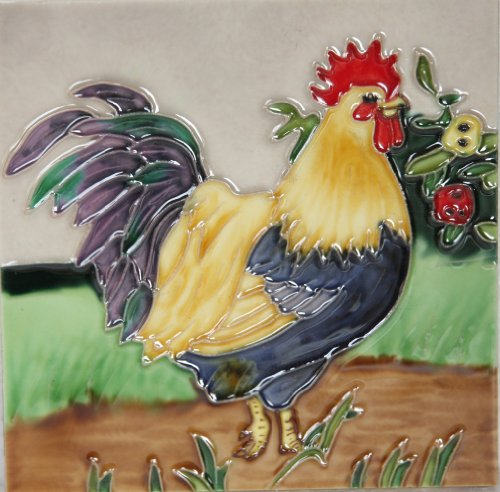 yh-arts-rooster-1-ceramic-tiles-multi-colour-6-x-6-inch