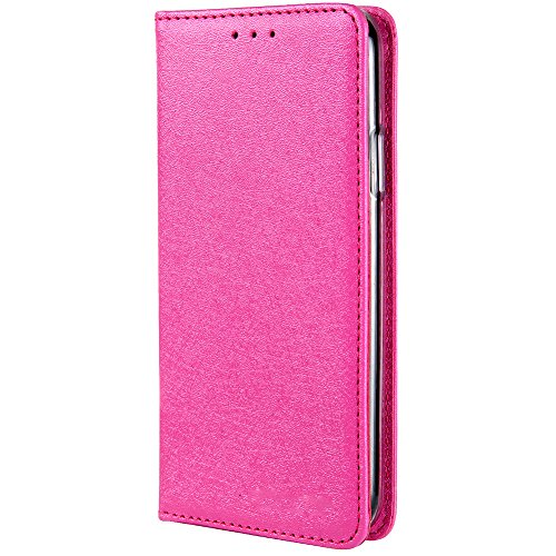 HARRMS iPhone 6 Plus,iPhone 6s Plus Handyhülle Handytasche mit Geldbörse mit Kredit Karten Fach Geldklammer Leder Hülle Handyfach Magnet Schutzhülle, Rosa - Rosa 6 Plus Leder Iphone Geldbörse
