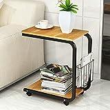 KFDQ Moderner Minimalistischer Couchtisch, Schlafzimmertisch, Mobiler Nachttisch, Mini-Sofa-Schrank Im Wohnzimmer/Teetisch/Mobiler Schreibtisch/Laptoptisch,B,Einheitsgröße