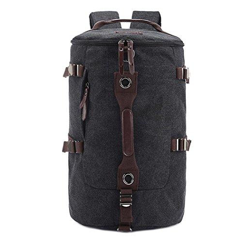 Canvas Backpack Rucksack Outdoor Leisure Reisen Large Rucksack große Leinwand Tasche small black
