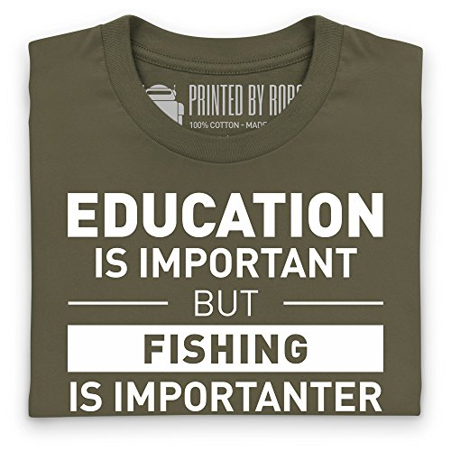 Fishing Is Important T-shirt, Uomo Verde oliva