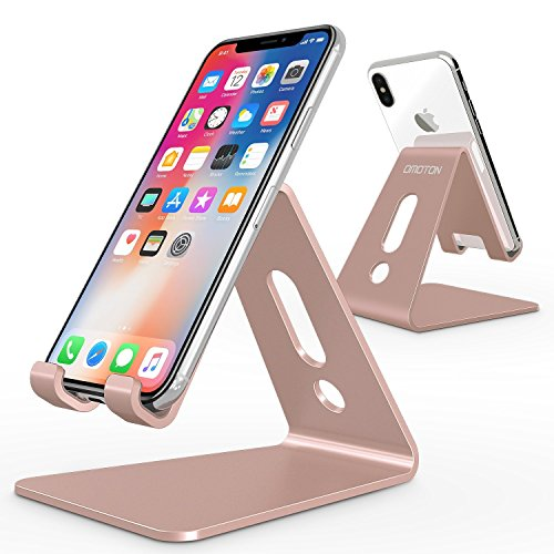 Support Nintendo Switch, OMOTON Support en Alliage d'aluminium pour Nintendo Switch, Nintendo Switch Play Stand, Rose D'or