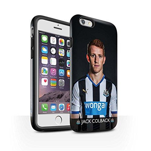Offiziell Newcastle United FC Hülle / Glanz Harten Stoßfest Case für Apple iPhone 6 / Pack 25pcs Muster / NUFC Fussballspieler 15/16 Kollektion Colback