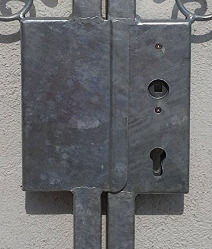 Gartentor Hoftor Tor Metall Eisen Monaco-GT300/30S Schloss Feuer Verzinkt 15 Jahre Garantie