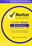 Norton Security Deluxe 2018 – 5 Dispositivos, 1 año