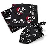 Piraten Bandana Kopftuch 12 Stück 3 Motive Piratenparty mit 12 Piraten Kinder Tattoos Palandi®