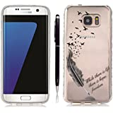 Pheant®[2 in 1] Samsung Galaxy S7 Edge Coque Gel Étui Housse de Protection Transparent Cas avec Stylet(Plume)