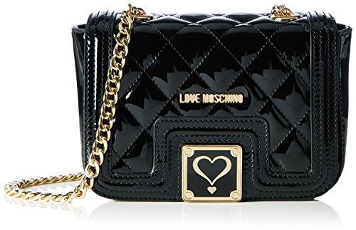 Love Moschino JC4019, Borse a Tracolla Donna, Nero (Black), 8x13x20 cm (B x H x T)