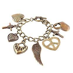 Habors Bronze Multicharm Bracelet
