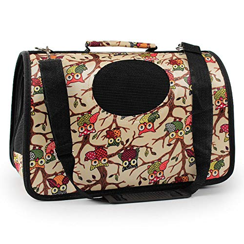 YYJL Oxford-Stoff tragbare mobile Zwinger Haustier Rucksack Schulter aus Katze Hund Haustier Tasche,L-Owl -