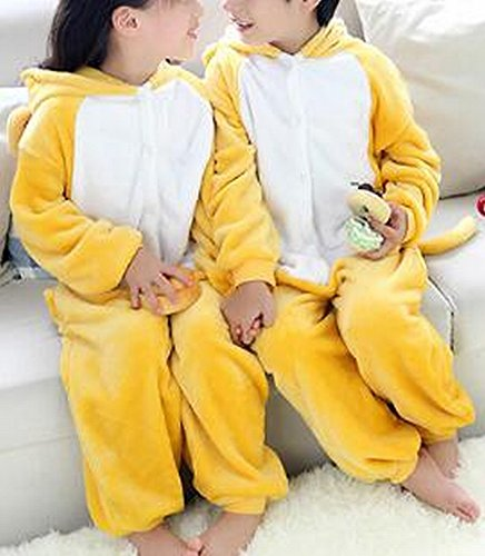CWJ Pyjamas-Kids Cartoon Flanell Tier Neuheit Kostüme Cosplay Pyjamas Rollenspiel Halloween Play Kleidung,Weiblicher ()