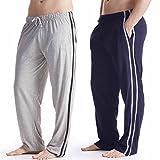 Pack 2 Hombre/Caballeros Pijama Liso pijama Pantalones Pantalones De Andar Por Casa, Varias Tallas -...