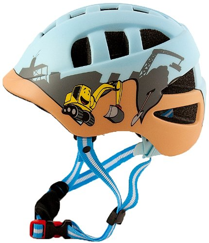 "AWE® ""The Digger"" Fahrrad Kinder Jungen Helme Blau In-Mould 48-52cm"