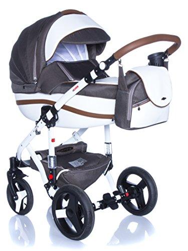 Kombi Kinderwagen Travel System Adamex Vicco R4 SCHOKO-BRAUN 3in1 Buggy Sportwagen Babyschale Autositz Kite 0-13kg