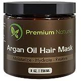 Premium Nature Arganöl Hair Mask Haarkur - 8Oz Leave In Conditioner Sulfat Frei - Beschädigt & Trocknen Haare Reparatur & Wachstum Ganz Natürlich - Hydrate Erweicht Stärkt