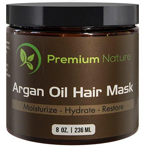Premium Nature Argan Oil Hair Mask, 8 oz