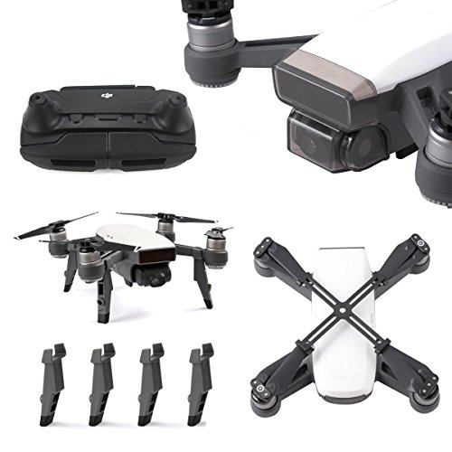 PENIVO Remote Control Transmitter Guardian Rocker Protector Transport Clip + Landing Gear + Fixed Helix Holder + Gimbal Lens Cover For DJI SPARK Accessories Set
