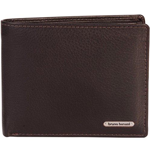 Bruno Banani Portemonnaie / Geldbeutel Herren, NEW YORK buff leather Geldbörse, Geldbeutel, Scheintasche quer, echt Leder, braun (Herren-leder - New York)