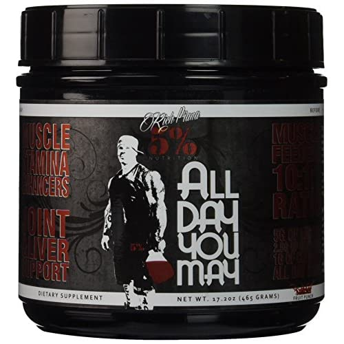 510kiIL8P0L. SS500  - 5% Nutrition - Rich Piana All Day You May, Fruit Punch, PER1001/462/101