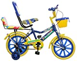 Outdoor Bikes Superia 14 Inch Bicycle For 3 To 5 Age Group (Semi Assembled With Assembly Instruction Manual & Tool Kit) (Blue Yellow)