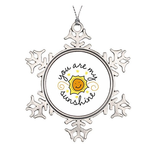 Daily Lady You Are My Sunshine Keramik rund Weihnachten Ornament