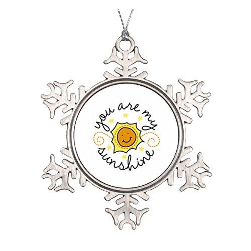 Daily Lady You Are My Sunshine Keramik rund Weihnachten Ornament (Christmas Handabdruck Ornament)