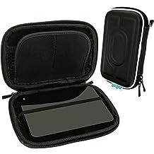 igadgitz Negro EVA Rígida Funda Carcasa para Toshiba Canvio Plus, Basics 500GB 750GB 1TB 2TB 3TB, Aeromobile 128GB & Store.E Aviv TV Kit 1TB Externo Disco Duro Case Cover