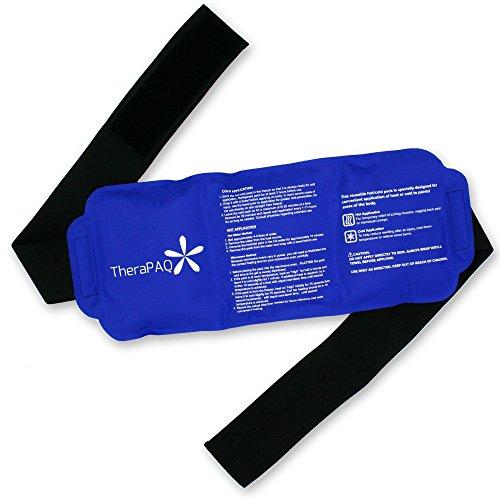 TheraPAQ Kühlkompresse Gel Kühlkissen mit Klettband | Kalt-Warm Kompresse - wiederverwendbares Gel Pack für Verletzungen und Schmerzen | Ideal als Heiß-Wickel oder Kältekompresse für Rücken, Taille, Schulter, Hals, Knöchel, Waden und Hüfte (Großes Pack: 35 x 15 cm)